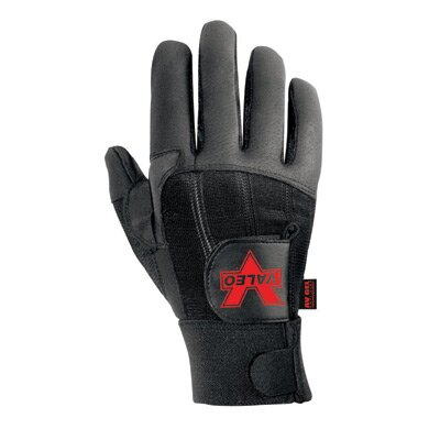 Black Left Hand Pro Full Finger Anti-Vibe Glove With AV GEL™ Padding And Hook And ...
