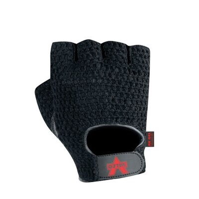 Black Mesh Fingerless Anti-Vibe Gloves With AV GEL™ Palm, Thumb And Index Finger, Leather And ...
