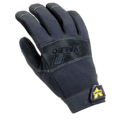 Black Work Pro Leather Mechaincs Gloves With Sueded Palm, Stretch-Knit Padded Back, Padded ...
