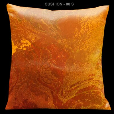 "Lama Kasso Como Gardens Orange 18"" Square Micro-Suede Pillow"