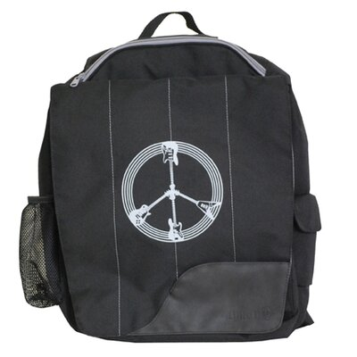 Diaper Dude Little Dude Guitar Peace Backpack in Black