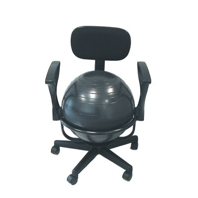 Cando Adjustable Ball Chair with Back
