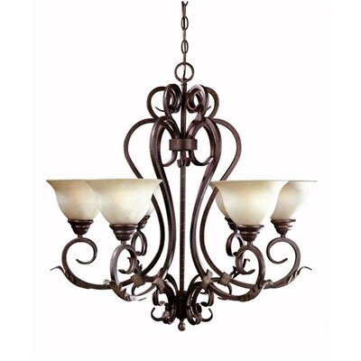 World Imports Olympus Tradition 6 Light Chandelier