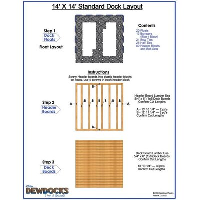"DewDocks - USA 168"" x 168"" Standard Dock Layout"