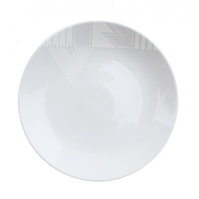"Ink Dish White Noise 10"" Dinner Plate"