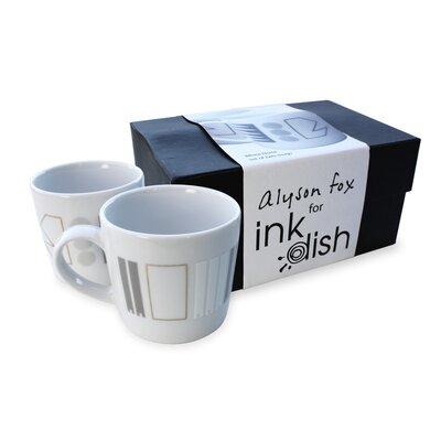 Ink Dish White Noise 2 Mug Gift Set