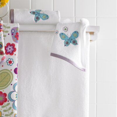 Kassatex Fine Linens Bambini Butterflies Bath Accessory Set