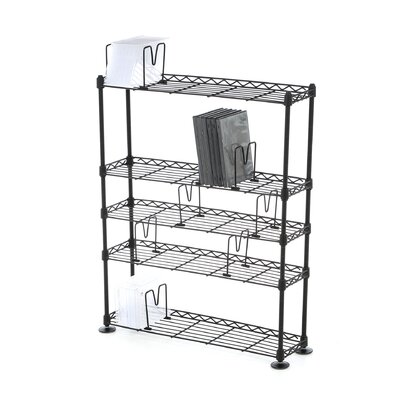 Atlantic 5-Tier Adjustable Multimedia Storage Rack