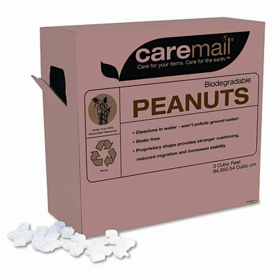 Caremail CareMail Biodegradable Peanuts, 3 Cubic Feet