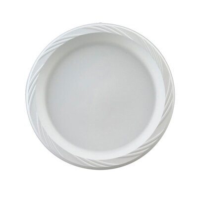 "Chinet 6"" Round Plastic Plates in White"