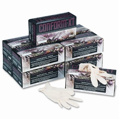 Conform XT Premium Latex Disposable Gloves, Powder-Free, Medium, 100 per Box