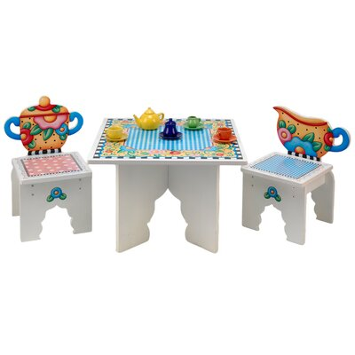 Anatex Tea Time Kids' 3 Piece Table and Chair Set