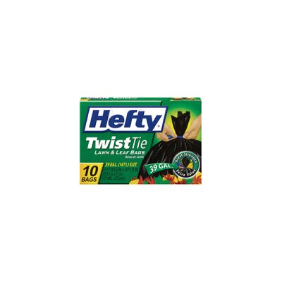 Hefty 39 Gallon Twist Tie Lawn and Leaf Bag 10/box