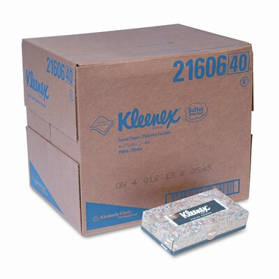 Kleenex KLEENEX Facial Tissue in Pop-Up Dispenser, 125 per Box, 48 Boxes per Carton