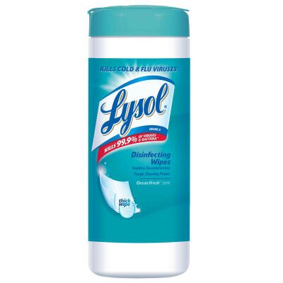 Lysol Disinfecting Spring Waterfall Wipes in White (12 per Carton)