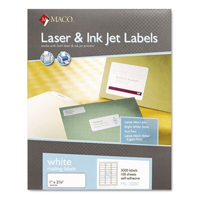 Maco Tag & Label All-Purpose Labels, 750/Pack