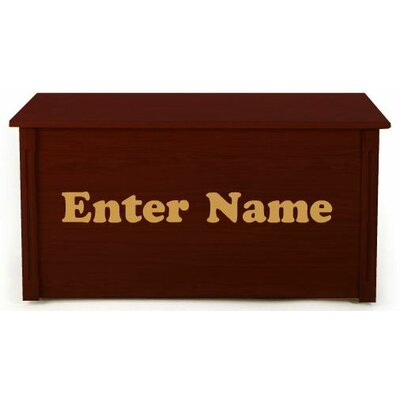 Personalized Wooden Toy Box with Picture Letters