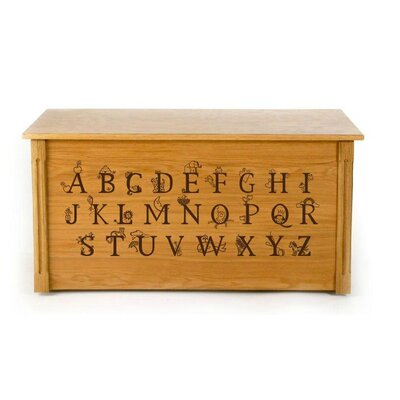 Dream Toy Box Wooden Alphabet Toy Box