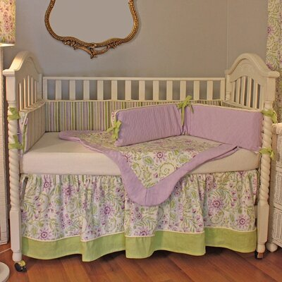 Hoohobbers Lilac Garden Crib Bedding Collection