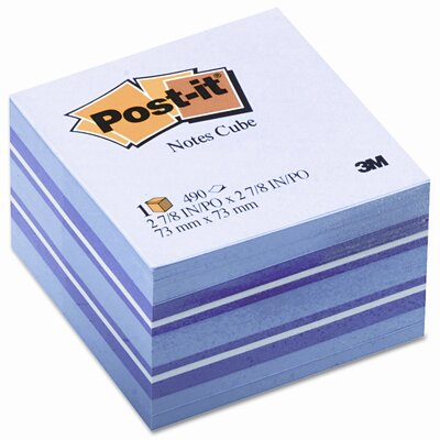 Post-it® Cube Note Pad, 490 Sheets