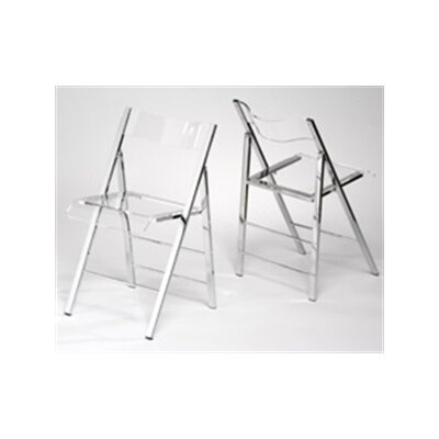 Alston Lucite Folding Side Chairs (Set of 2)