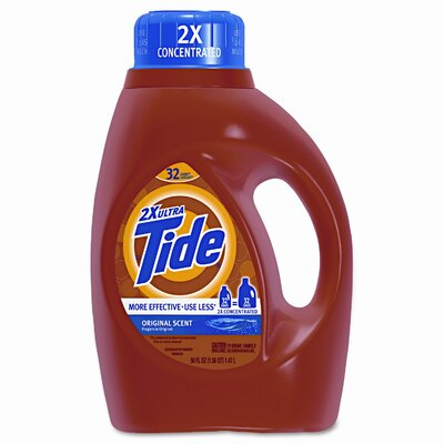 Procter & Gamble Commercial Ultra Liquid Tide Laundry Detergent, 50 oz Bottle, Single
