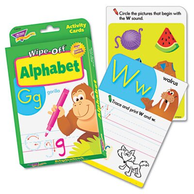 TREND ARGUS Wipe-Off Activity Cards, Addition Facts 0-10, 32 per Pack