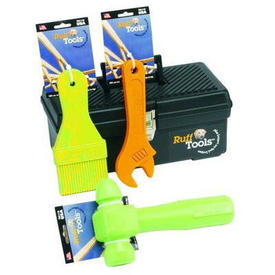 Ruff Dawg Ruff Tools Dog Wrench Dog Toy in Yellow