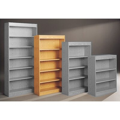 "Fleetwood Library 72"" H Five Shelf Double Sided Bookcase"