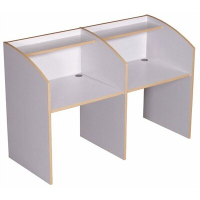 Fleetwood Single Sided Study Carrel Privacy Desk Starter
