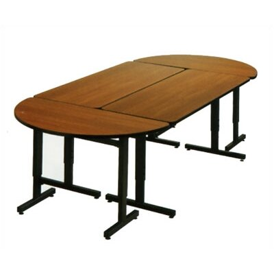 Fleetwood Half Round Study / Work Table with Glides and Adjustable Height