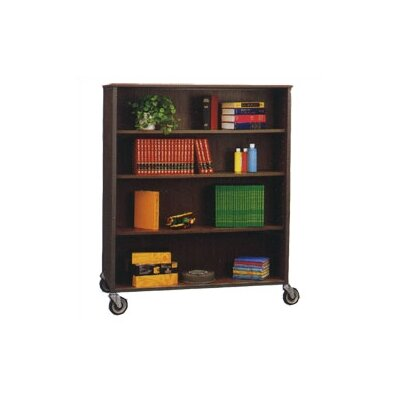 "Fleetwood Library 72"" H Double Sided Bookcase with Eight Adjustable Shelves"