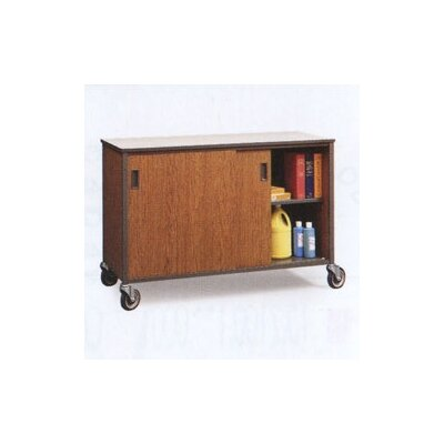 "Fleetwood 34"" H Shelf Cabinet with Optional Hinged Doors"