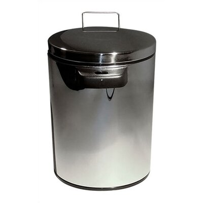 Nine Stars 1.3 Gallon Stainless Steel Infrared Trash Can