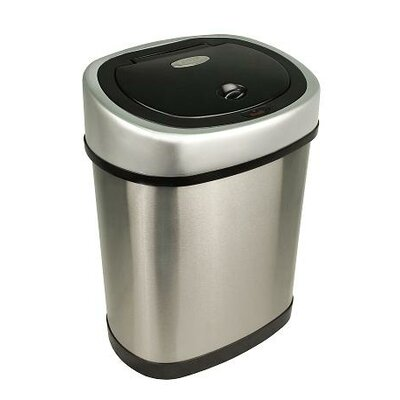 Nine Stars 3.1 Gallon Stainless Steel Motion Sensor Trash Can