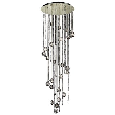 PLC Lighting Soleil 25 Light Crystal Chandelier