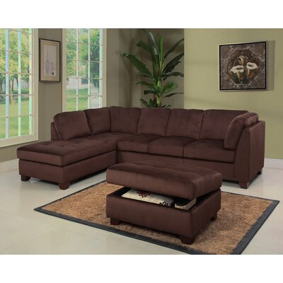 Abbyson Living Deana Sectional and Ottoman