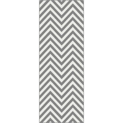 Metro Gray Chevron Rug