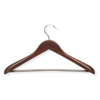Deluxe Contoured Suit Hanger with Non Slip Bar in Cherry (2 Pack)