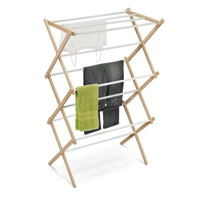 Accordion Drying Rack in White and Natural