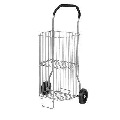 Honey Can Do Two Tier All Purpose Two Wheel Cart in Silver
