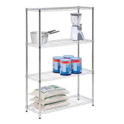Honey Can Do Four Tier Shelving Unit in Chrome