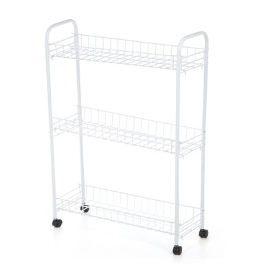 Honey Can Do Three Tier Rolling Household Cart in White