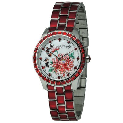 Ed Hardy Women's Bella Watch in Red