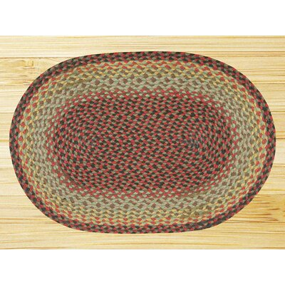 Earth Rugs Burgundy/Black Multi Rug