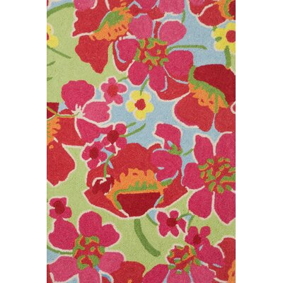 Dash and Albert Rugs Hooked Power Poppies Micro Rug