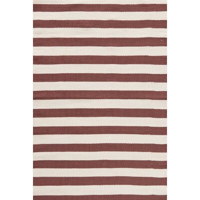 Trimaran Red/Ivory Striped Rug