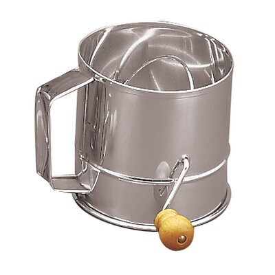 Fox Run Craftsmen Stainless Steel Crank Sifter (3 Cups)