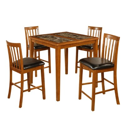 Hazelwood Home Counter Height 5 Piece Dining set