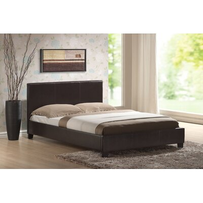 Hazelwood Home Faux Leather Panel Bed